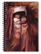 Apache Girl And Papoose Spiral Notebook