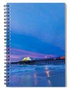 Apache Pier At Sunrise Spiral Notebook