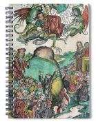Apocalypse, Nuremberg Chronicle, 1493 Spiral Notebook