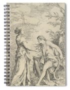 Apollo And The Cumaean Sibyl Spiral Notebook