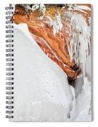 Apostle Islands Frozen Canyon Spiral Notebook