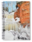 Apostle Islands National Lakeshore Waterfall Portrait Spiral Notebook