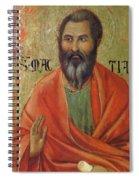 Apostle Matthias 1311 Spiral Notebook