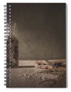 Apothecary Bottle And Clothes Pin Spiral Notebook