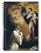 Apparition Of The Virgin To Saint Bernardo  Spiral Notebook
