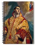 Apparition Of The Virgin To St Lawrence Spiral Notebook