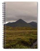 Appealing Scenic Landscacpe In Cuillen Hills Scotland  Spiral Notebook
