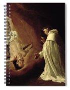 Appearance Of Saint Peter To Saint Peter Nolasco Spiral Notebook