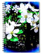 Apple Blossoms In Blue White Mist Spiral Notebook