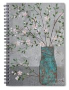Apple Blossoms In Turquoise Vase Spiral Notebook