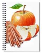 Apple Cinnamon Spiral Notebook