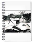 Apple Farm In Winter Spiral Notebook