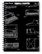 Apple Macintosh Patent 1983 Black Spiral Notebook