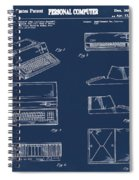 Apple Macintosh Patent 1983 Blue Spiral Notebook