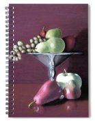 Apple  Pears And Grapes Spiral Notebook