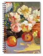 Apples And Peonies Spiral Notebook