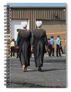Approaching A Youth Gathering Spiral Notebook
