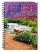 Approaching Navajo Falls Spiral Notebook