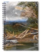 Approaching Storm In A Wooded Landscape Spiral Notebook