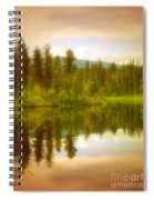 Apricot Reflections Spiral Notebook