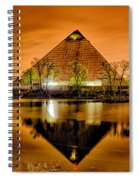 April 2015 - The Pyramid Sports Arena In Memphis Tennessee Spiral Notebook