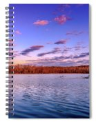 April Evening At The Lake Spiral Notebook