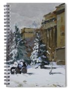 April Snow By The Nacc Spiral Notebook