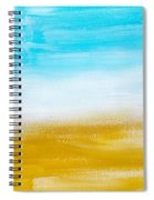 Aqua Gold Abstract Painting Spiral Notebook