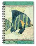 Aqua Maritime Fish Spiral Notebook