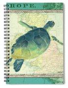 Aqua Maritime Sea Turtle Spiral Notebook
