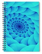 Aqua Pillow Vortex Spiral Notebook