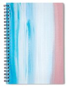 Aqua Pink Abstract Painting Spiral Notebook