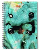 Aqua Teal Art - Volley - Sharon Cummings Spiral Notebook