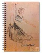 Arabesque On Pointe Spiral Notebook