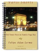 Arc De Triomphe By Bus Tour Cover Art Spiral Notebook