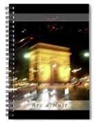 Arc De Triomphe By Bus Tour Greeting Card Poster V1 Spiral Notebook
