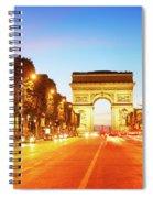 Arc De Triomphe, Paris, France Spiral Notebook