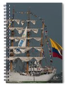 Arc Gloria Colombian Tall Ship Spiral Notebook