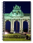 Arcade Du Cinquantenaire At Night - Brussels Spiral Notebook