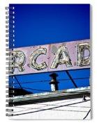 Arcade Vintage Sign Spiral Notebook