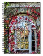 Arch And Red Vines Spiral Notebook