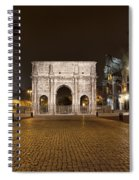 Arch At Night Spiral Notebook