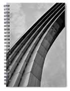 Arch In Black And White Spiral Notebook
