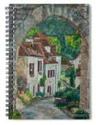 Arch Of Saint-cirq-lapopie Spiral Notebook