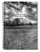 Arch Swing Set In The Park 76 In Black And White Spiral Notebook