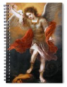 Archangel Michael Hurls The Devil Into The Abyss Spiral Notebook