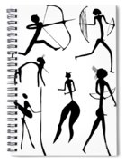 Archer And Other Figures Spiral Notebook