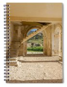 Arches, Entrance And Stairs Of Derelict Agios Georgios Church Spiral Notebook