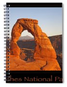Arches National Park Poster Spiral Notebook