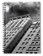 Architecture Tall Buildings Bw Nyc  Spiral Notebook